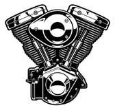 Motor monocromático de la motocicleta Imágenes de archivo libres de regalías