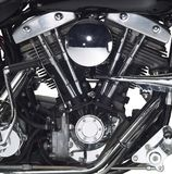 Motor of a motorbike Stock Photo