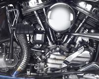 Motor of a motorbike Stock Photos