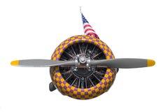 Motor och propeller för Texan för lila- och gulingkontroll AT-6 royaltyfria bilder