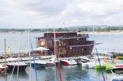Motor- och seglingyachter Arkivfoton