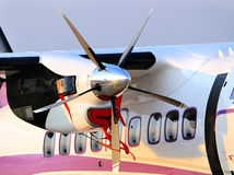 Motor Of The Airplane With Propeller Royalty Free Stock Image