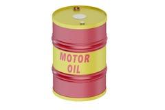 Motor oil barrel. Isolated on white background vector illustration