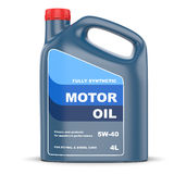 Motor oil canister Royalty Free Stock Images