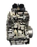 Motor op witte achtergrond stock foto's