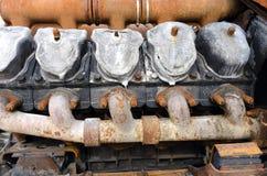 Motor oxidado viejo Fotos de archivo