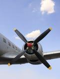 Motor parado del aeroplano imagen de archivo