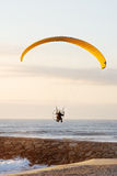 Motor paraglider stock photo