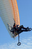 Motor paragliding. Motor - power paragliding (MPG or PPG) vertical composition Royalty Free Stock Photo