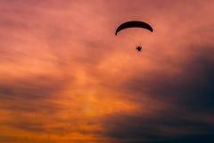 Motor paragliding - paramotoring Royalty Free Stock Photo