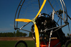 Motor paraplan, esporte de voo foto de stock