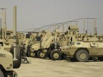 Motor-pool in Iraq stock photos