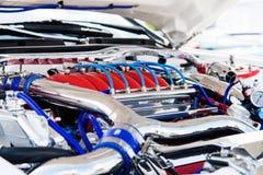 Motor potente del coche Imágenes de archivo libres de regalías
