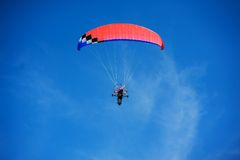 Motor powered para-glider Stock Image