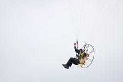 Motor powered paraglider closeup Royalty Free Stock Image