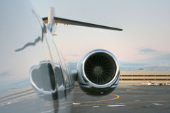 Motor of private jet. Motor of private business jet Royalty Free Stock Photo