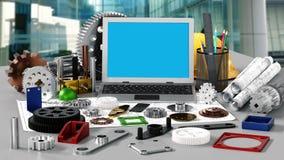 Motor productie en werktuigbouw royalty-vrije stock afbeeldingen