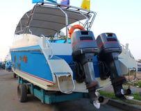Motor propeller of Speed boat Royalty Free Stock Image