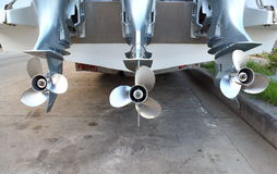 Motor propeller of Speed boat Royalty Free Stock Photography