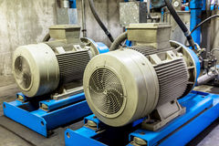 Motor with pump industry Royalty Free Stock Image