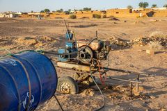 A motor for a pump for pumping water in Sudan, Africa royalty free stock photo