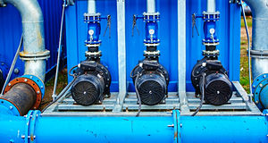Motor pump water electric Royalty Free Stock Image
