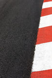 Motor race asphalt curb on Monaco street circuit Royalty Free Stock Photos