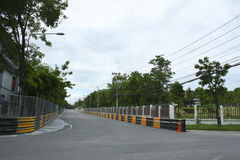 Motor Race Track In City. Car Stock Photos