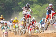 Motor racers Stock Image
