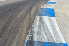 Motor racing circuit Blue and White. Racing royalty free stock image
