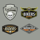 Motor racing emblem set,sticker,arms, illustration. Motorcycle racing emblem set,shield,logo,sticker,arms, illustration Stock Image
