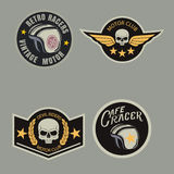 Motor racing emblem set,sticker,arms,vector illustration Royalty Free Stock Photography