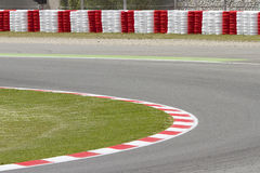 Motor racing track. View of a motor racing track stock photo