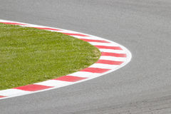 Motor racing track. View of a motor racing track Royalty Free Stock Photo
