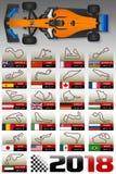 Motor Racing Tracks Calendar Royalty Free Stock Photos
