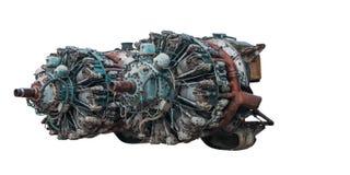 motor radial de 9 cilindros do avião velho imagens de stock