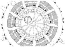 Motor radial em um branco ilustração stock