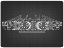 Motor radial em um cinza fotos de stock royalty free