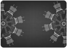 Motor radial em um cinza ilustração royalty free