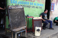 Motor Radiator -Welding workshop. Motor radiator - Welding workshop. Plaza Civica - Los Libertadores  in  NEIVA. Department of Huila. COLOMBIA Stock Photo