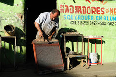 Motor Radiator -Welding workshop Royalty Free Stock Image