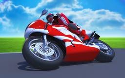 Motor-raza Foto de archivo libre de regalías