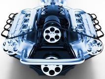 Motor rendido no fundo branco ilustração do vetor
