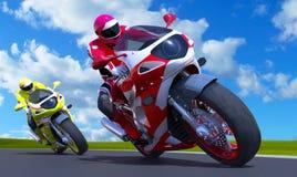 Motor-Rennen Stockfoto
