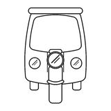 Motor rickshaw transport tricycle outline Royalty Free Stock Photos