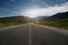 Motor road in highland Royalty Free Stock Photos