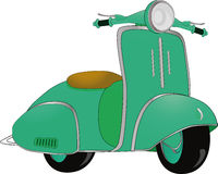 Motor scooter. Old retro moped toy transport urban Stock Photo