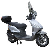 Motor scooter. Isolated with white background Royalty Free Stock Image