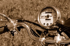Motor Scooter. Closeup Speedometer of Motor Scooter Stock Image