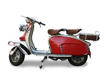 Motor Scooter. Vintage motor scooter (logo removed), isolated with clipping path Royalty Free Stock Photography